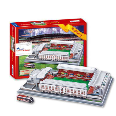 Candice guo 3D puzzle DIY toy paper building model highbury Stadium football soccer assemble game hand work birthday gift set