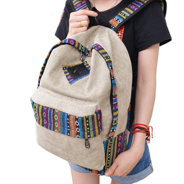 National Wind, Shoulder Bag, Female Korean Version, Canvas, Occident Fashion Institute, Fashion Trend, Boys And Girls, Schoolbag