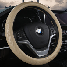 KKYSYELVA car steering wheel cover 38cm Fashion Wheel Covers Leather Steering-wheel Auto Interior Accessories new vinyl furniture wood grain leather steering wheel covers comfortable car steering wheel cover fits 38cm car accessories