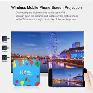 Image 3 - Mini TV Box H96 con Android, TV Box con 4GB de RAM, 128GB de ROM, dispositivo de TV inteligente, Android 9,0, H96mini, Allwinner H6, 2,4/5G, wi fi, compatible con Youtube, 4K