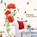 Pegatinas de flores mujer Personalidad tracería Cálida sala de estar del dormitorio del adorno fondo pegatinas
