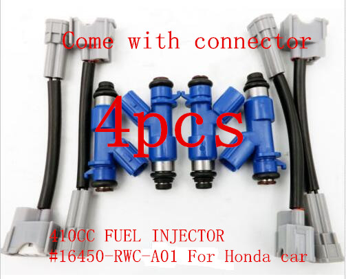 GENUINE 410cc RDX Fuel Injector 16450RWCA01 16450 RWC A01 for Acura Civic RDX Integra RSX K20