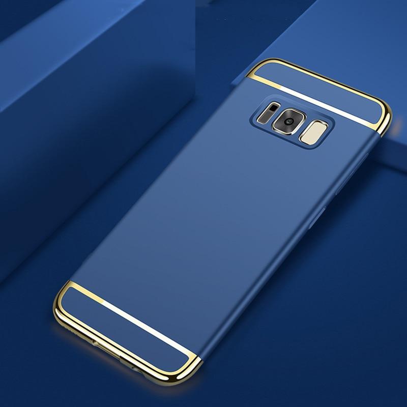 Samsung Galaxy S8 Plus Hard Shell Coque Üçün 1 Qızıl örtüklü - Cib telefonu aksesuarları və hissələri - Fotoqrafiya 4