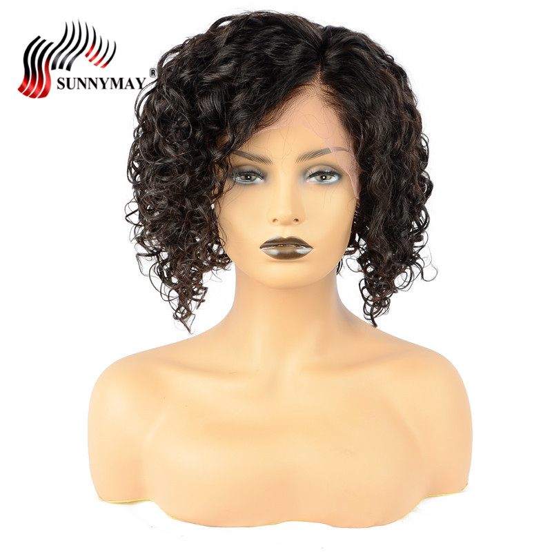 Sunnymay Bob Wig Brazilian Curly Short Lace Front Human Hair Wigs For Black Women Pre Plucked With Baby Hair Remy Hair