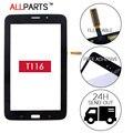 Оригинал ИСПЫТАНИЯ 7.0 дюймов Черный Белый Планшетный ПК с Сенсорным Экраном Для SAMSUNG Galaxy Tab 3 Lite SM-T116 T116 Сенсорный Экран Бесплатно клей