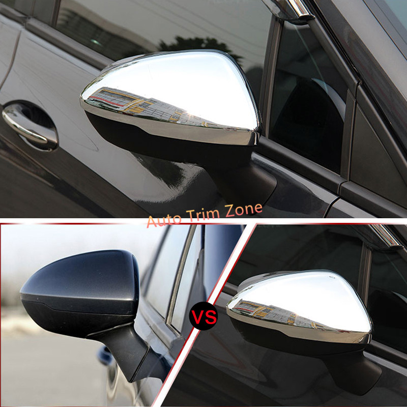 2*ABS Exterior Door Side View Wing Mirror Cover Trim For Opel Astra K 2015-2017 exterior 4pcs abs chromed lower door