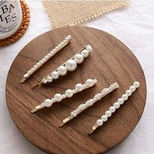 5pcs Pearl Hair Clips Hairpins for Women Lady Girls Faux Barrettes Pins Decorative Wedding Bridal Accessories