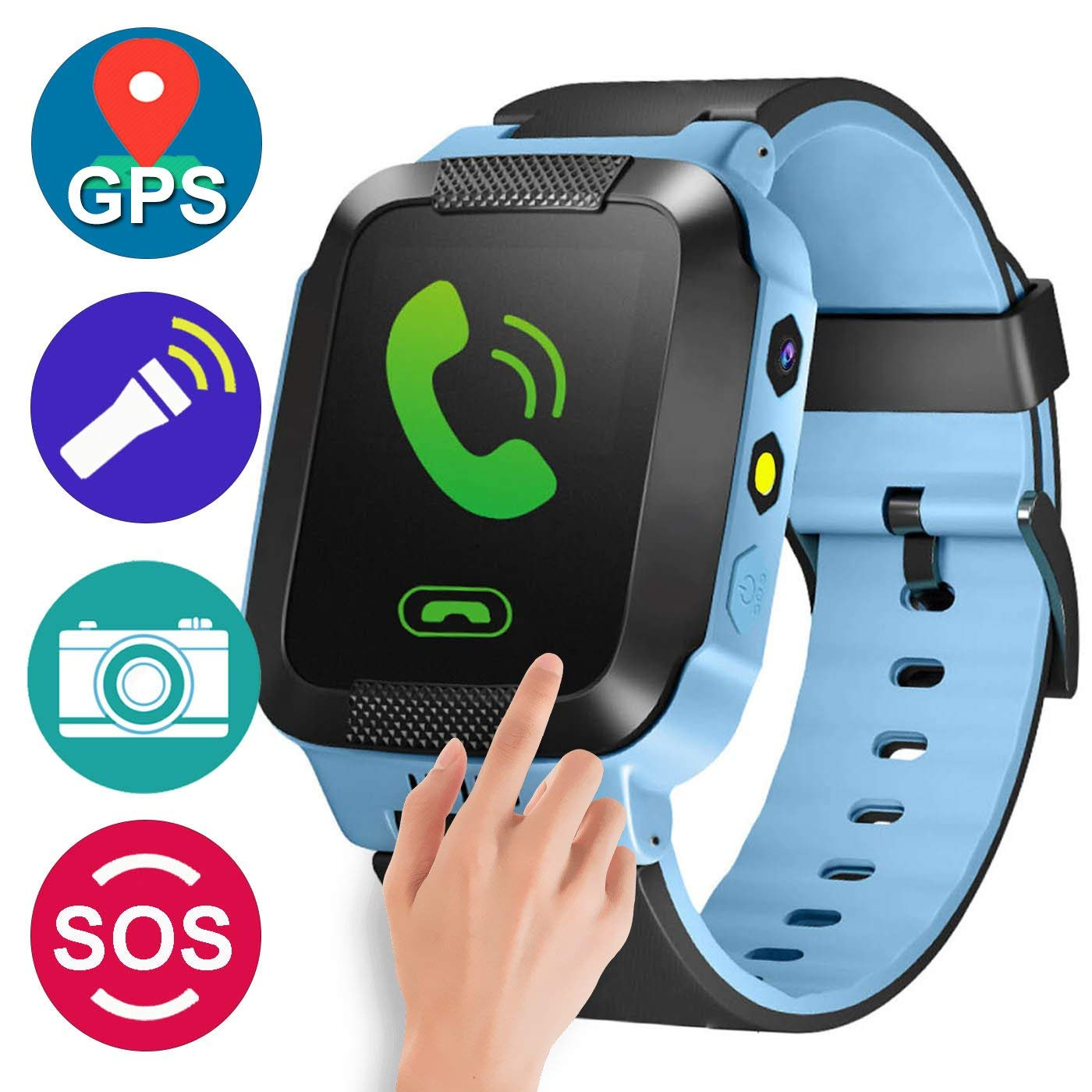 GPS Tracker Kids Smart Watch Children Girls Boys Summer Outdoor Birthday Camera SIM Calls Anti lost SOS Bracelet IOS Android