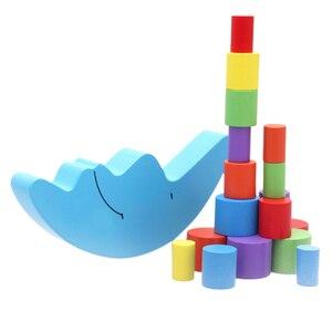 Image 5 - 1 세트 아기 어린이 장난감 문 균형 게임 및 게임 장난감 2 4 세 소녀 & 소년 (파란색)
