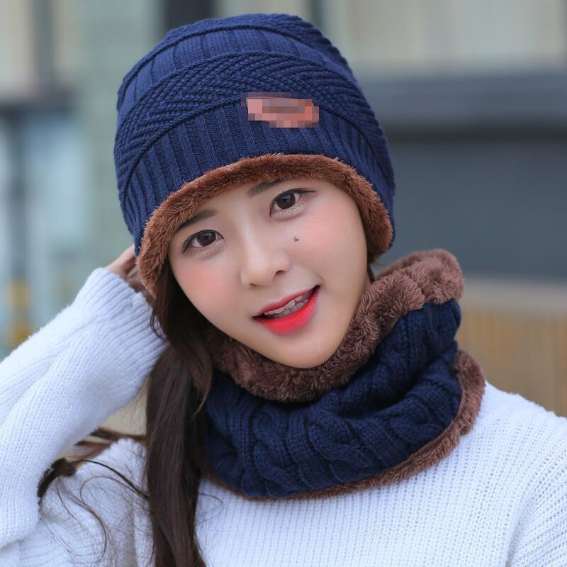 5eb4b25bde797 BINGYUANHAOXUAN 2017 Men Warm Hats Cap Scarf Winter Wool Hat Knitting for Men  Caps Lady Beanie Knitted Hats Women s hats War-in Skullies   Beanies from  ...