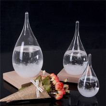 Weather Forecast Crystal Drop Water Shaped Storm Glass New Year Home Decor Gift