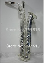 Eb Baritone Saxophone Falling E Plating Brass Siilvering Sax Professional Musical Instrument Saxophone With Case
