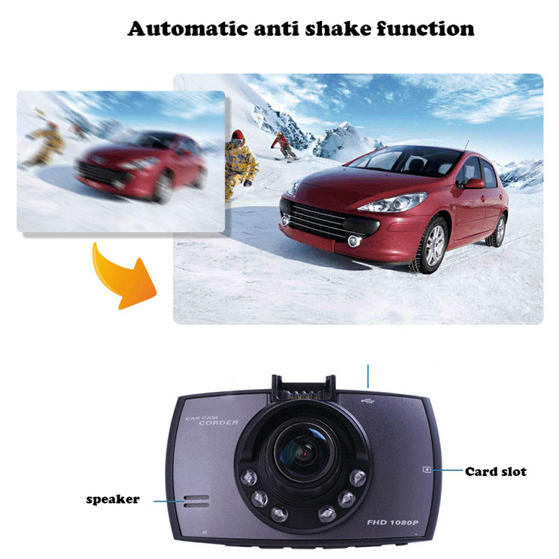 Support Back View Mobile Detection Travel Recorder Dash Camera Car DVR 1080P High Definition Night Vision Vehicle Insurance