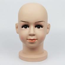 47.5 cm Realistic Plastic Child Mannequin Dummy Head,Kid Manikin Heads