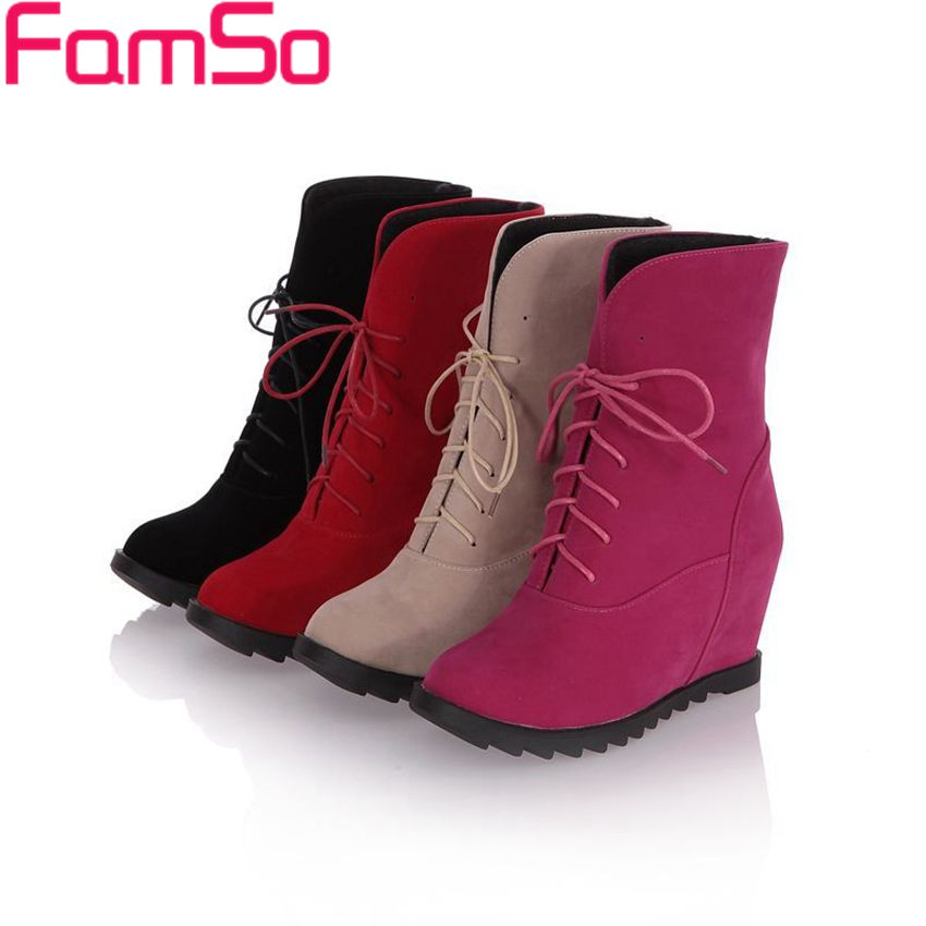 Free shipping 2016 New Sexy font b Women b font Boots high Heels Ankle Boots Wedges