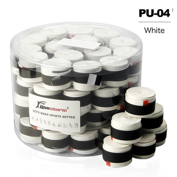 60 pcs WHITE/BLACK Tennis Racket Grips Coated Anti-skid Sweat Absorbed Tapes Badminton Tennis Overgrips Fishing Rod Sweatbands - as picture showed