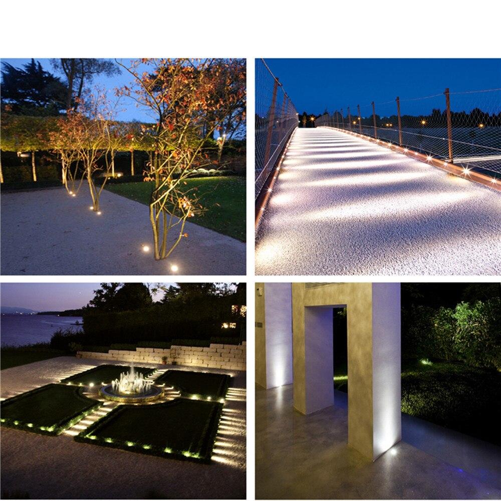 1W LED Enterrado Luz Subterrânea Luz IP67