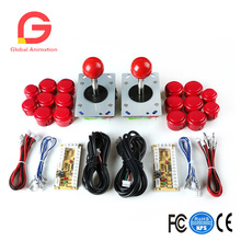 Zero Delay Arcade Game Kit DIY Parts ZIPPY Joystick & Push Buttons For JAMMA MAME USB Cabinet Raspberry Pi Replacement