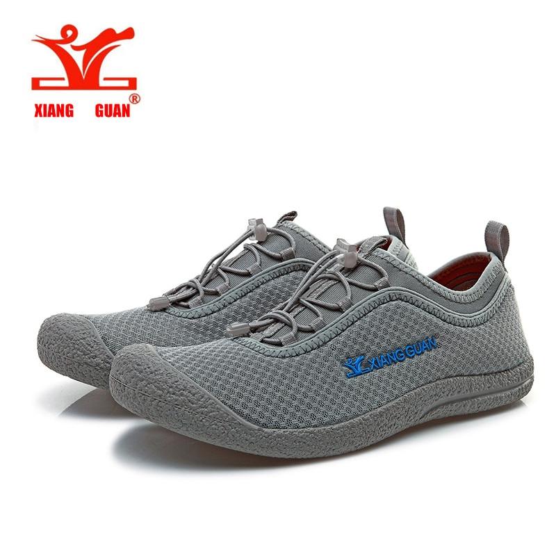2016XIANGGUAN Hiking font b shoes b font Comfortable breathable Lycra mesh fresh man woman athletic botas