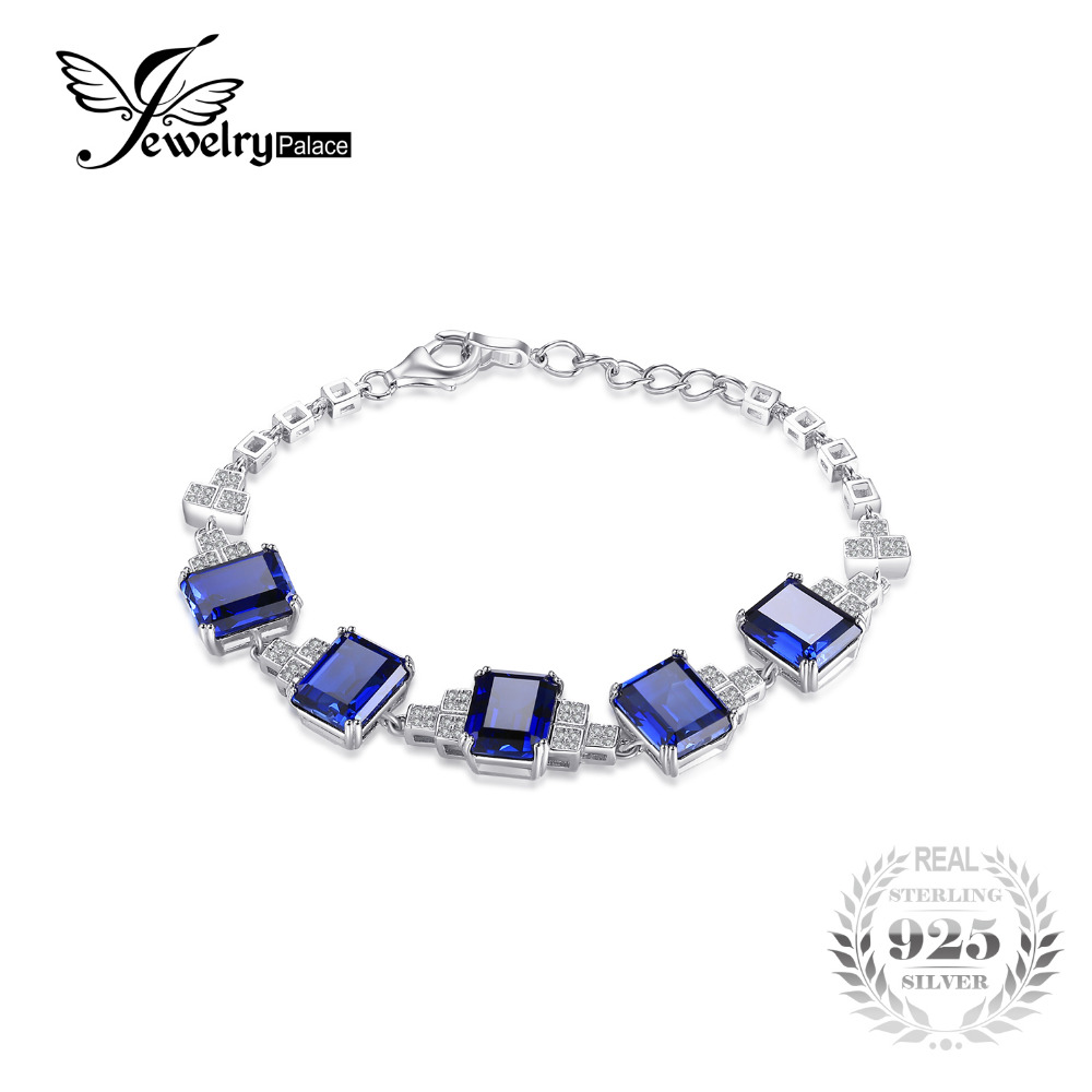 Luxury ct High Quality Sapphire Bracelets Pure Solid Sterling Silver Fashion Engagement