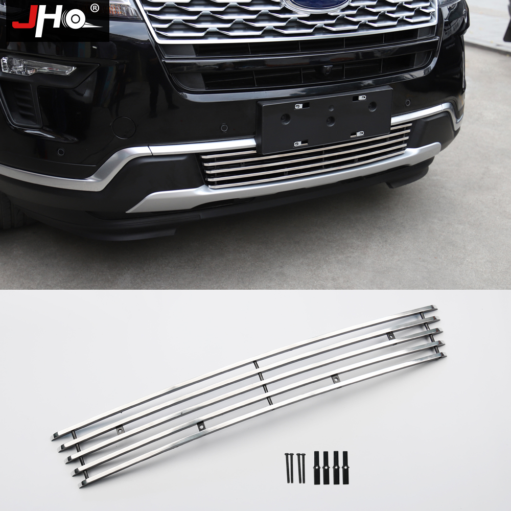 JHO Front Bumper Lower Grille For Ford Explorer 2016 2018 2017 Protector Guard Car Styling Cover
