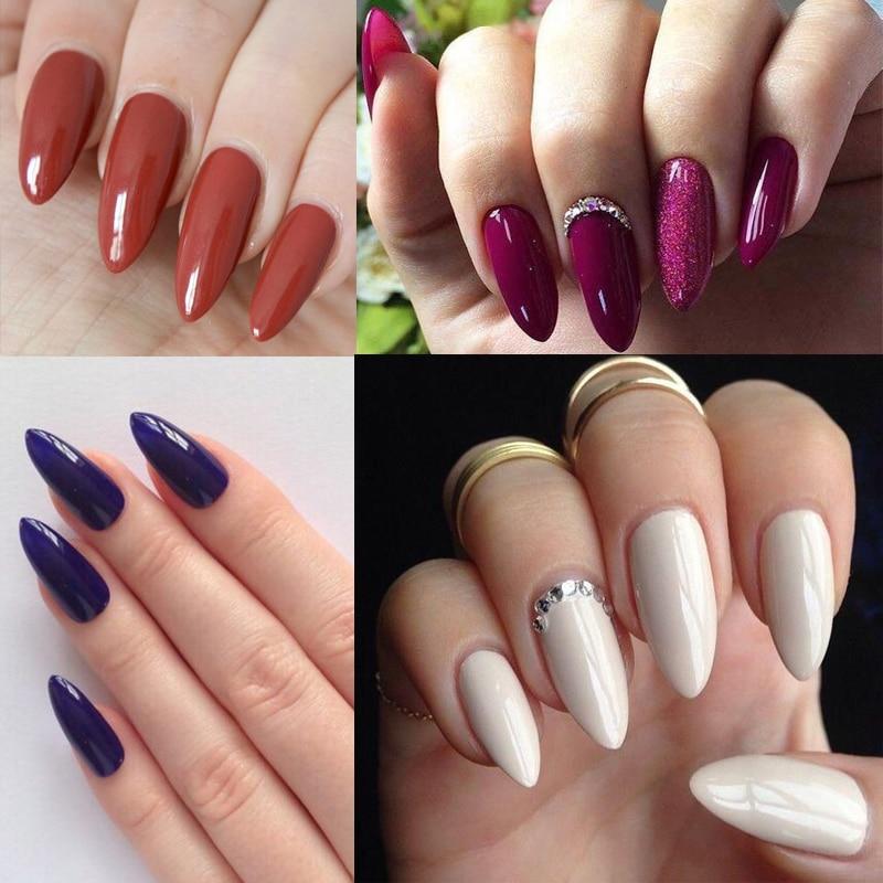 Contemporary Round Nails Composition - Nail Paint Design Ideas ...