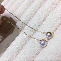 Вечная Свадебная Для женщин подарок Слово стерлингового серебра 925 Настоящее пресноводного жемчуга ухо линии серьги длинные круглый безуп