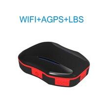 Mini WIFI GPS LBS localizador en tiempo Real AGPS posicionamiento valla electrónica para ancianos niño maleta mochila Modo de Llamada bidireccional