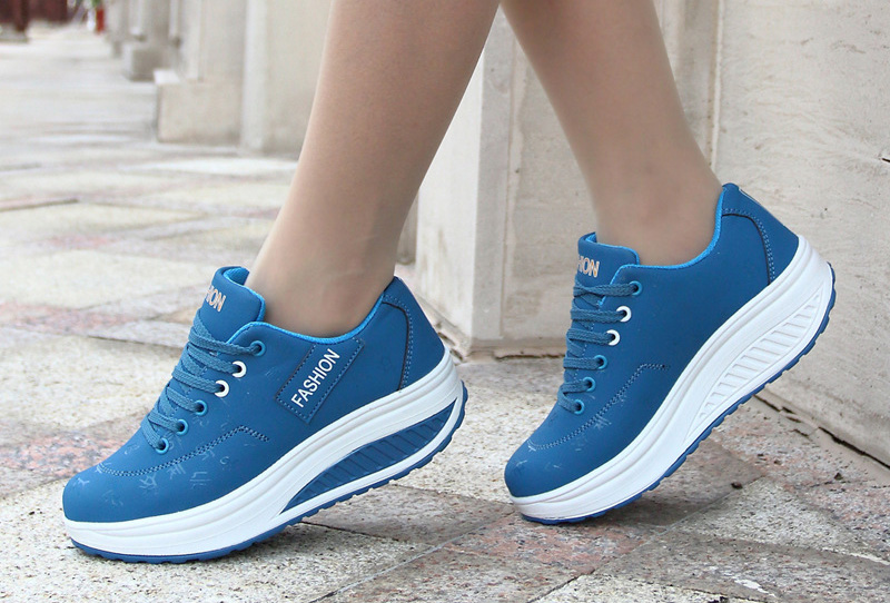 HTB18fFHq.R1BeNjy0Fmq6z0wVXaL Akexiya Fashion Women Height Increasing Summer Breathable Waterproof Wedges Sneakers Platform Shoes Woman Pu Leather Casual Shoe