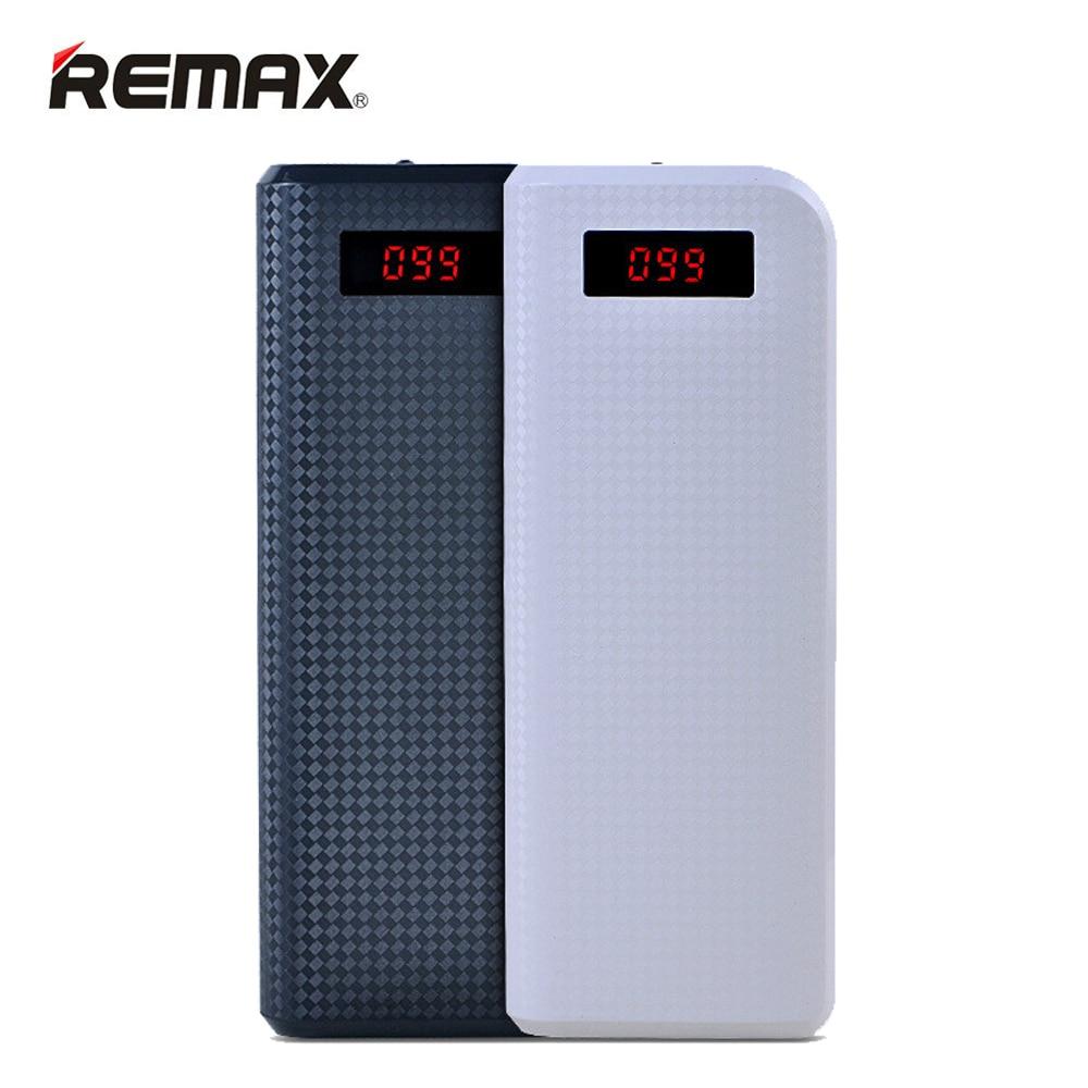imágenes para Remax proda banco de la energía 20000 mah batería externa powerbank led dual usb cargador portátil batería externa para los teléfonos inteligentes de la tableta