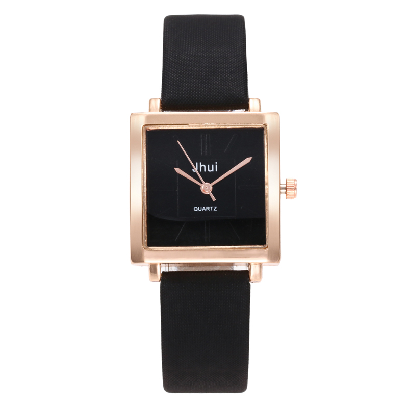 2019 Luxury BrandWomen Bracelet Square Watch Contracted Leather Crystal Wristwatches Women Dress Ladies Quartz Clock Dropshiping