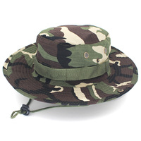 New Outdoor Fisherman's Hat Sports and Leisure Jungle Yuanbian Hat Climbing Fishing Camouflage Colored Hat Army Men and Women's
