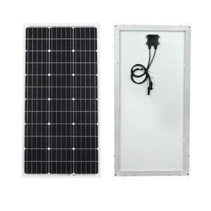 Image 2 - Ecocorthy 600W mono Sistema Solar 6 piezas 100w 18V monocristalina paneles de energía solar con 24 piezas Z soportes para cargador de batería de 12V
