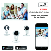 High Resolution 720P two-way audio H.264 Indoor Infrared Cube IP Camera Support TF card and Cloud technology Home Security