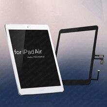 Écran tactile pour iPad Air 1 assemblage de panneau avec bouton daccueil pour iPad 5 outils de réparation gratuits A1474 A1475 A1476 remplacement