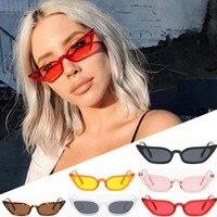 Damskie okulary sportowe Vintage lustrzane okulary przeciwsłoneczne cat eye Retro mała ramka UV400 okulary moda damska okulary kierowcy w Okulary motocyklowe od Samochody i motocykle na