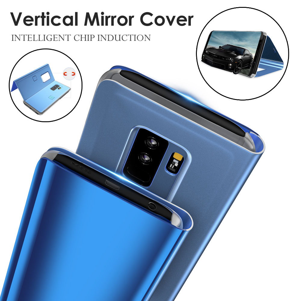 the best attitude 90bd4 c5310 US $4.28 14% OFF|Smart Mirror Flip Cover 6.0For Samsung Galaxy J4 J6 Plus  Case For Samsung Galaxy J4 J6 Prime J610 J415 2018 Cover Case-in Flip Cases  ...