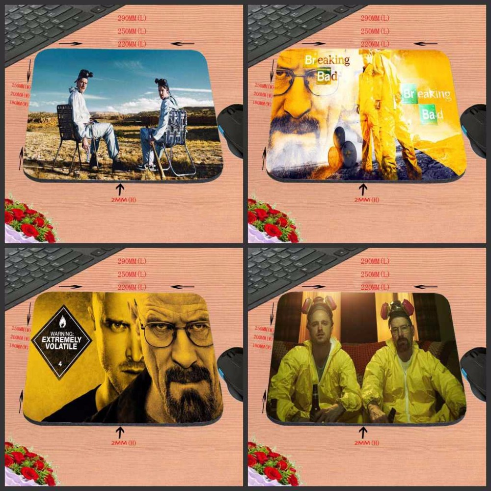 New Arrival One Piece Breaking Bad Time Movie Style Anti-Slip Laptop Gaming Mouse Pad Mat for Optal Trackball Laser Mouse