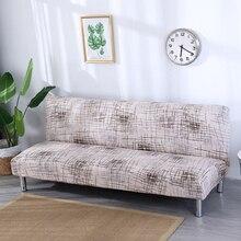 Europa Stijl Gedrukt Armless Slaapbank Cover Klapstoel Kussenovertrekken Stretch Covers Goedkope Couch Protector Elastische Bench Futon