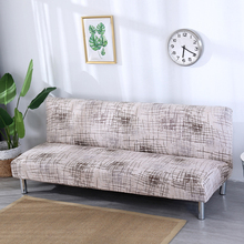 Europe style printed Armless Sofa Bed Cover Folding seat slipcovers stretch covers cheap Couch Protector Elastic bench Futon