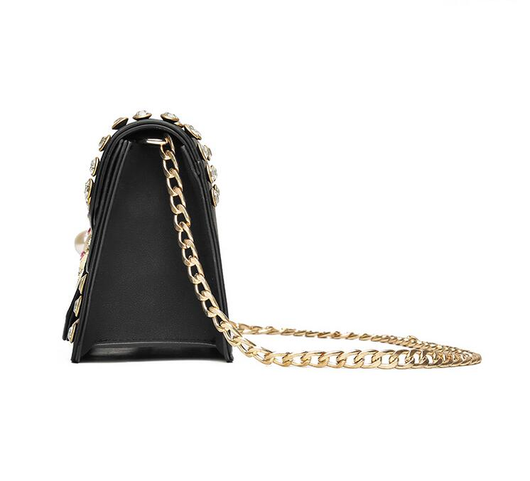 RUILANG 2018 New Womens Fashion PU Leather Diamonds Handbags Female Messenger Bag Ladies Luxury Brand Shoulder Cossbody Bag