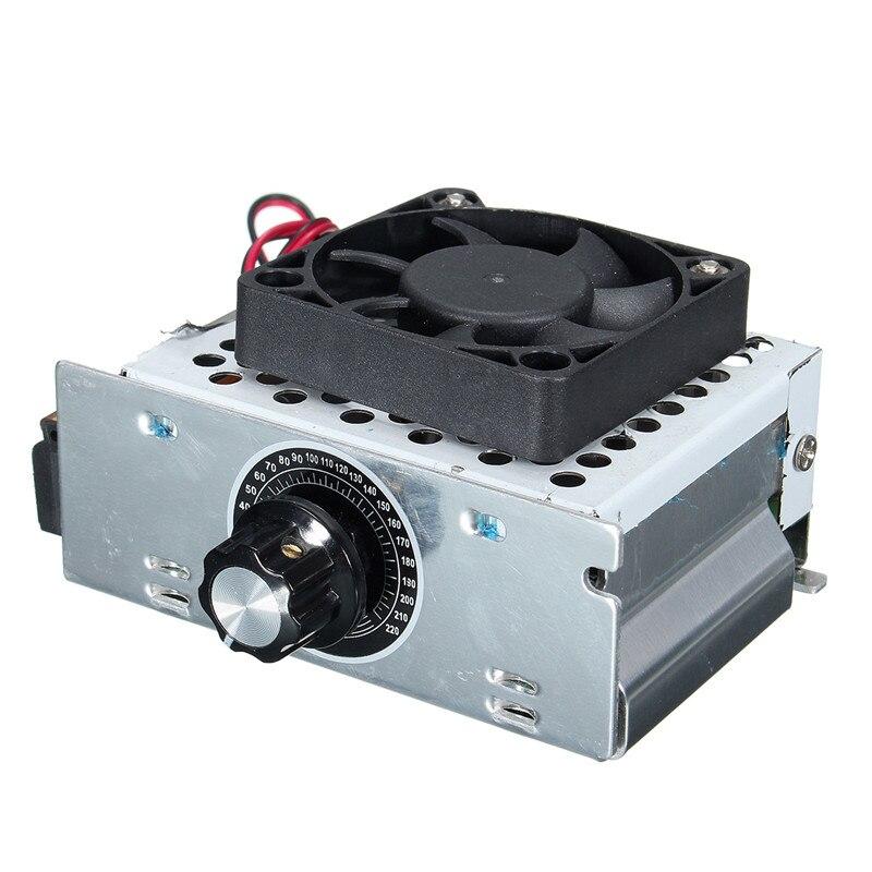 0-220V AC SCR Elektrischer Spannungsregler Motor Drehzahlregler 4000W Werkzeug