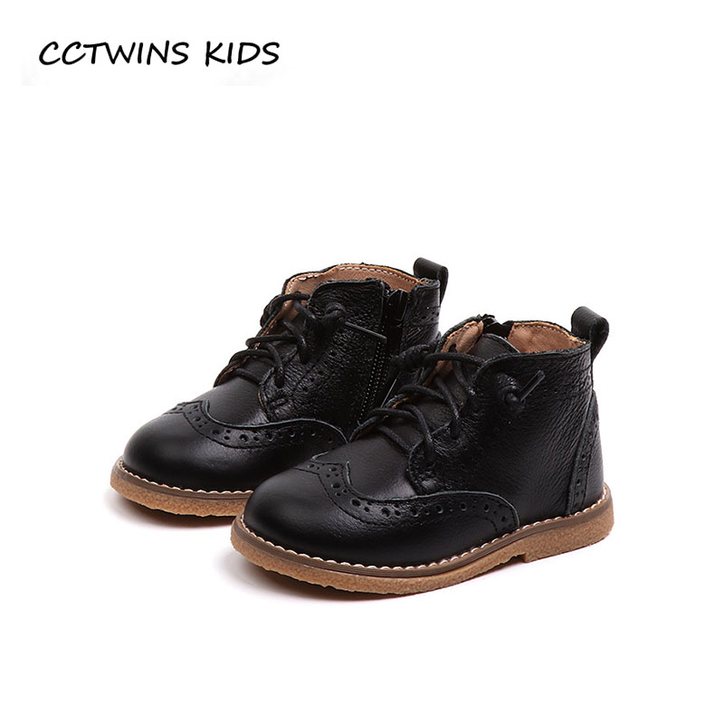 CCTWINS KIDS 2018 Autumn Toddler Brand Ankle Boot Children Genuine Leather Shoe Baby Boy Fashion Martin Boot Girl BM016 cctwins kids 2018 autumn baby boy fashion black boot children genuine leather shoe girl brand ankle boot toddler cf1505