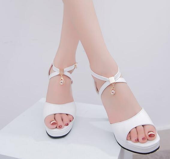 Boldee 2018 Platform PEEP Toe Slip On Women Shoes Sexy