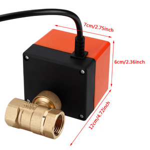 Image 4 - Ball Valve AC 220V Brass Electric Motorized Ball Valve 2 Way 3 Wire 1.6Mpa Thread DN15 DN25 with Actuator For Water Gas Oil