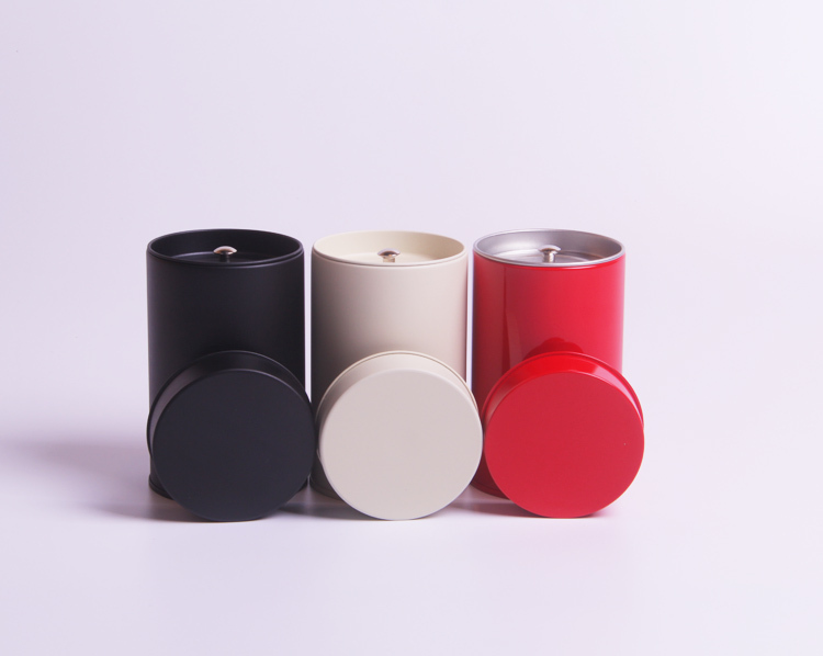 Size Dia74x117mm Round Tea Tin Box Tea Container For 75g