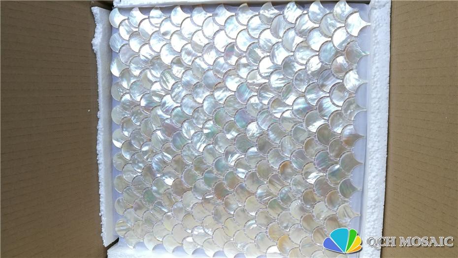 Whitelip shell perlmutt mosaik fliesen für küche backsplash und bad natürlichen muschel weiß farbe 5 platz feet/lot - 3