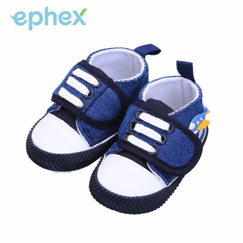 Ephex 2017 Baby Boys Prewalkers Shoes Canvas Spaceship Printed Spring/Autumn Infants Toddlers First Walkers Non-slip Baby Shoes