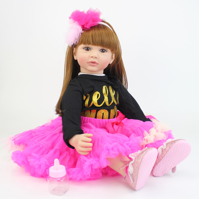 60cm Silicone Vinyl Reborn Baby Doll Toys For Girl Exquisite Princess Toddler Alive Babies Child Birthday Gift Play House Toy60cm Silicone Vinyl Reborn Baby Doll Toys For Girl Exquisite Princess Toddler Alive Babies Child Birthday Gift Play House Toy