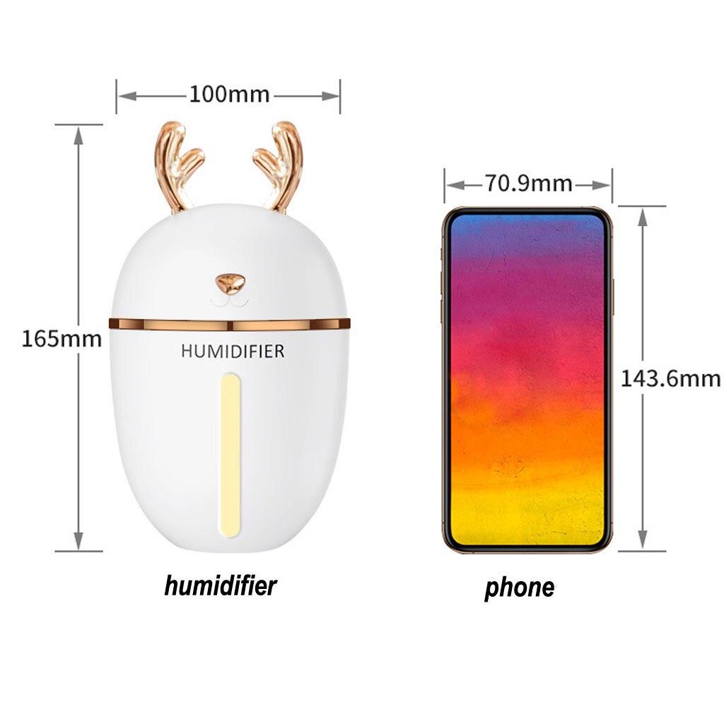 Nuovo 450 ML di Aria Umidificatore Con Batteria Auto Aroma Diffusore Per La Casa USB Nebbia Make Silenzioso umidificazione multi-colore di respirazione 8Z